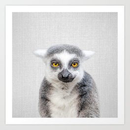 Lemur - Colorful Art Print