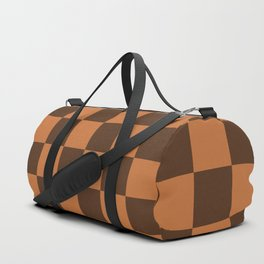Brown Boxes Design Duffle Bag
