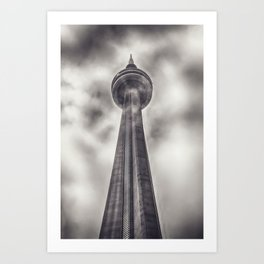 Tower in the Mist Art Print