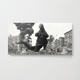 New Orleans Godzilla Attack 1908 Metal Print