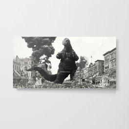 New Orleans Godzilla Attack 1908 Metal Print