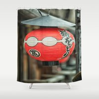 lantern Shower Curtains featuring Red Lantern by Jonah Anderson
