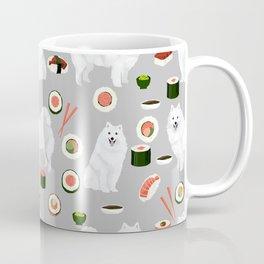 Japanese Spitz sushi kawaii dog portrait custom pet lover pattern by pet friendly Coffee Mug