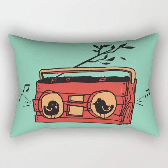 Nature's boombox Rectangular Pillow