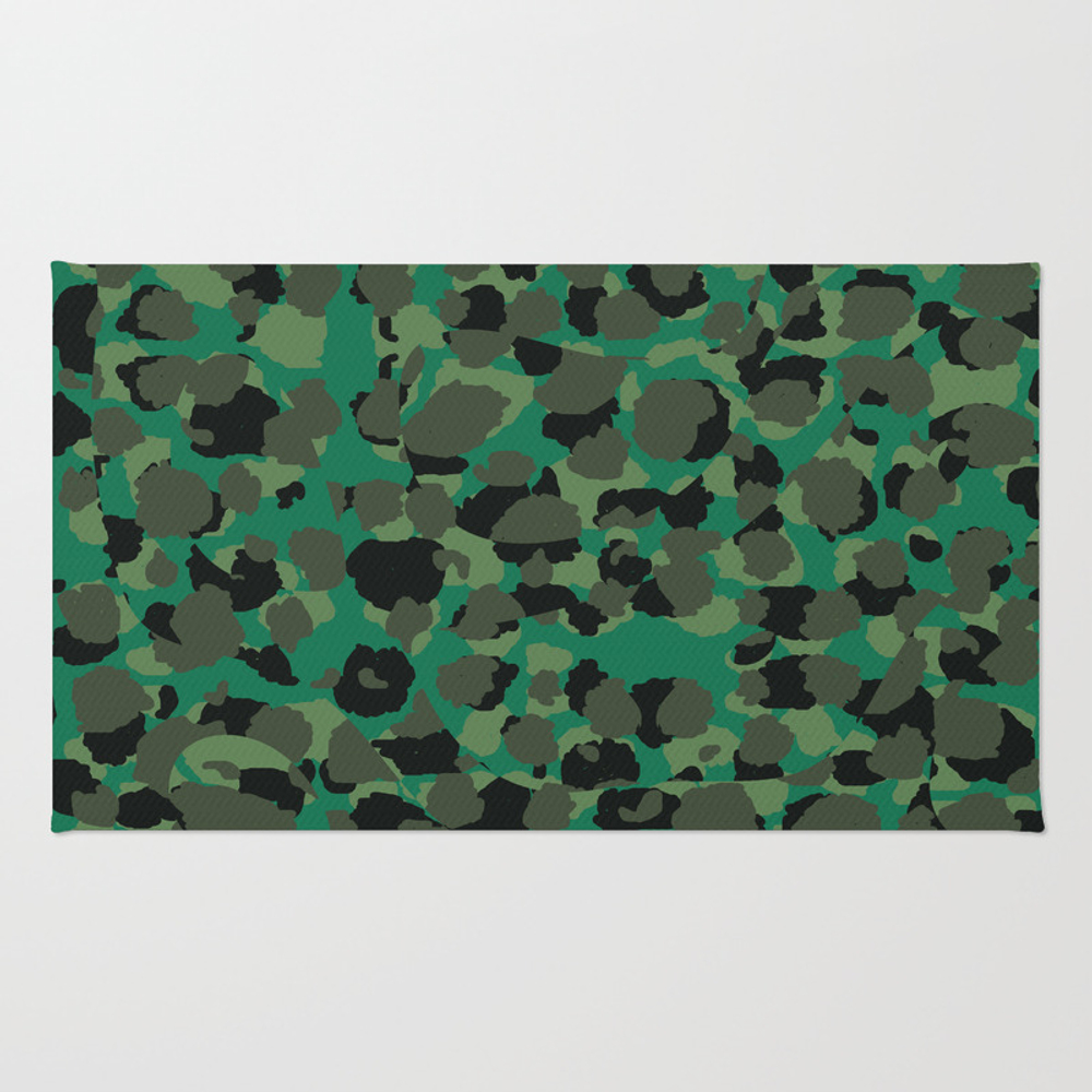 Emerald Leopard Spots Rug by Christyleigh RUG7716582