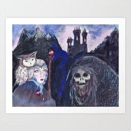 Encounter at Doom Mountain Art Print
