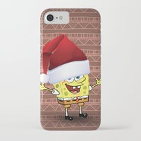 spongebob iPhone & iPod Cases featuring Spongebob Celebration by Neo Store