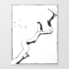 Penguin-Dreams Canvas Print
