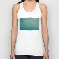 airplane Tank Tops featuring Airplane by Nick De Clercq