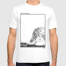 Escapism : Great Heights  SMALL White Mens Fitted Tee