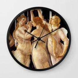 """Sandro Botticelli """"Primavera"""" The Three Graces Wall Clock"""