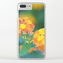 Pretty Sweet Floral Orange And Yellow Blossoms Clear iPhone Case