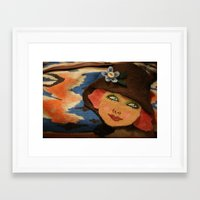 backpack Framed Art Prints featuring Backpack by Callieen