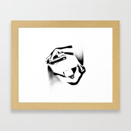 Spraying Hands Framed Art Print