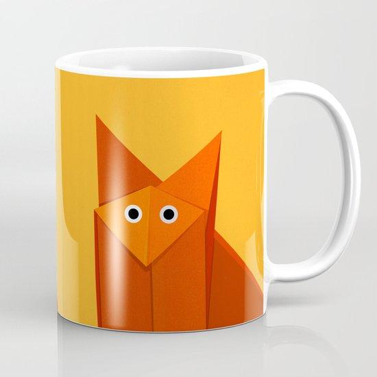 Geometric Cute Origami Fox Portrait Mug