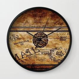 Vintage style postal box Wall Clock