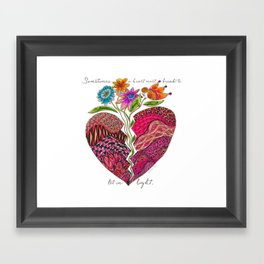 Broken Heart Framed Art Print