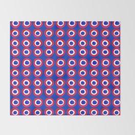 Donut Evil Eye Amulet Talisman - red on blue doughnut Throw Blanket