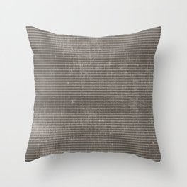 Vintage pastel brown abstract geometrical stripes Throw Pillow