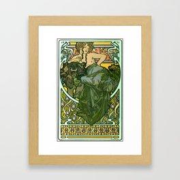 """Alphonse Mucha """"Documents Décoratifs, 1901 (47) - La Dame L'Ours"""" Framed Art Print"""