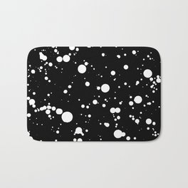 310001 Black and White Painting Bath Mat