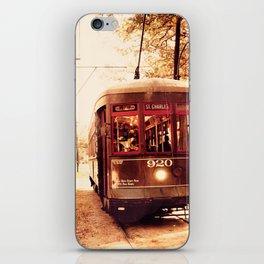 St Charles Street Car - New Orleans iPhone Skin