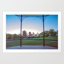 the City in a Canvas Art Print