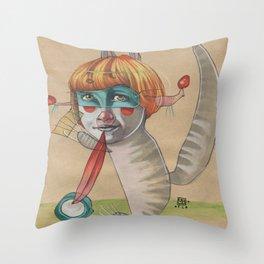 CAT CLOWN Throw Pillow