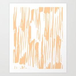 Modern Coral Stripes IV Art Print