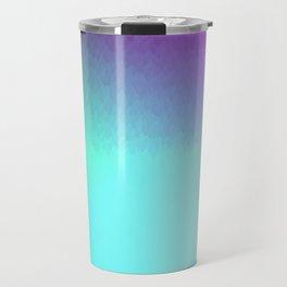 Six Color Ombre Cyan, Purple, Green, Pink, Purple, Blue, Spectrum Flame Texture  Travel Mug