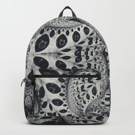 Wild Fiber III. Black and White Abstract Art Backpack