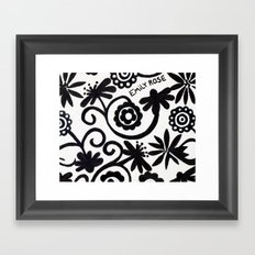 doiley flowers - white Framed Art Print