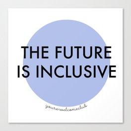 The Future Is Inclusive - Blue Canvas Print