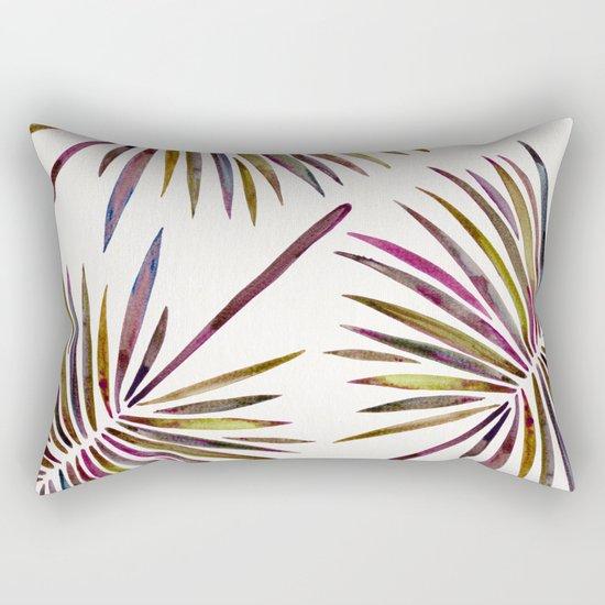 Tropical Fan Palm – Vintage Palette Rectangular Pillow