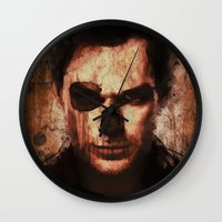 dexter Wall Clocks featuring Dexter by Sirenphotos