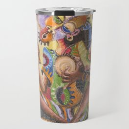 The Drummer. Giclee print from Cameroon, Africa Travel Mug