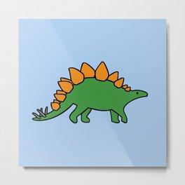 Cute Stegosaurus Metal Print