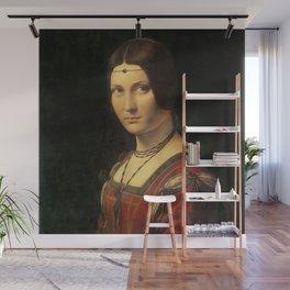 Leonardo da Vinci - Ritratto di donna, dice La Belle Ferronnière Wall Mural