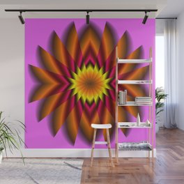 Mind Lotus Flower Abstract Wall Mural