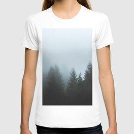 Misty Fog Pine Trees T-shirt