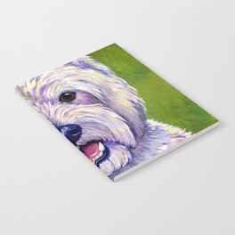 Colorful West Highland White Terrier Dog Notebook