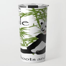 The Male Eats, Shoots and Leaves Travel Mug