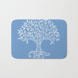 Tree of Life Blue Bath Mat