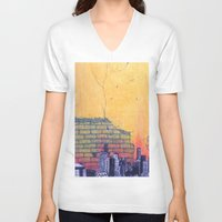 denver V-neck T-shirts featuring denver by Saari Shelhart