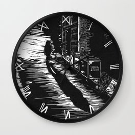 Down a Hidden Alley Wall Clock