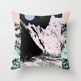 That circle which might be a moon Throw Pillow