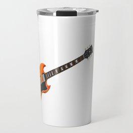 Guitar With Fire Graphics Travel Mug