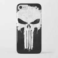 punisher iPhone & iPod Cases featuring Punisher White by d.bjorn