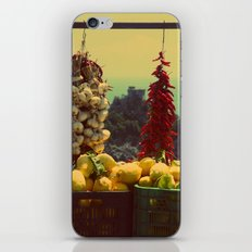 Garlic, Peppers & Lemons in Amalfi, Italy iPhone & iPod Skin