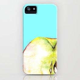 Apple on Aquamarine iPhone Case